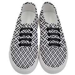 Woven2 Black Marble & White Leather Women s Classic Low Top Sneakers