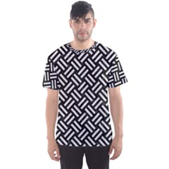 Woven2 Black Marble & White Leather (r) Men s Sports Mesh Tee
