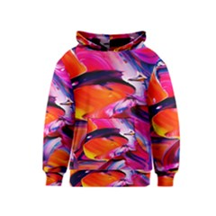 Abstract Acryl Art Kids  Pullover Hoodie