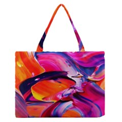 Abstract Acryl Art Zipper Medium Tote Bag