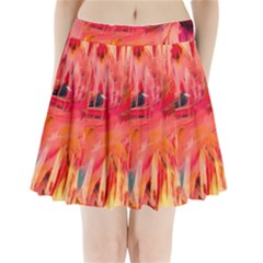 Abstract Acryl Art Pleated Mini Skirt