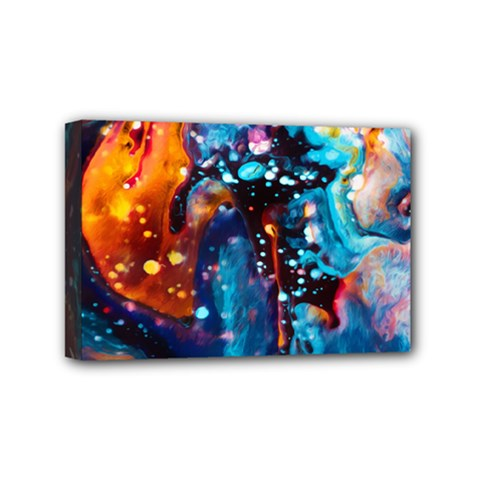 Abstract Acryl Art Mini Canvas 6  X 4