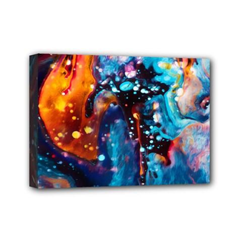 Abstract Acryl Art Mini Canvas 7  X 5
