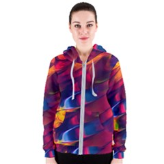 Abstract Acryl Art Women s Zipper Hoodie