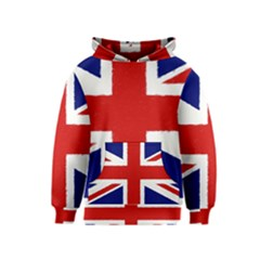 Union Jack Pencil Art Kids  Pullover Hoodie