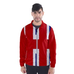 Union Jack Pencil Art Wind Breaker (men)