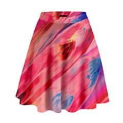 Abstract Acryl Art High Waist Skirt