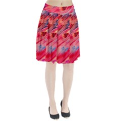 Abstract Acryl Art Pleated Skirt