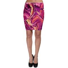 Abstract Acryl Art Bodycon Skirt