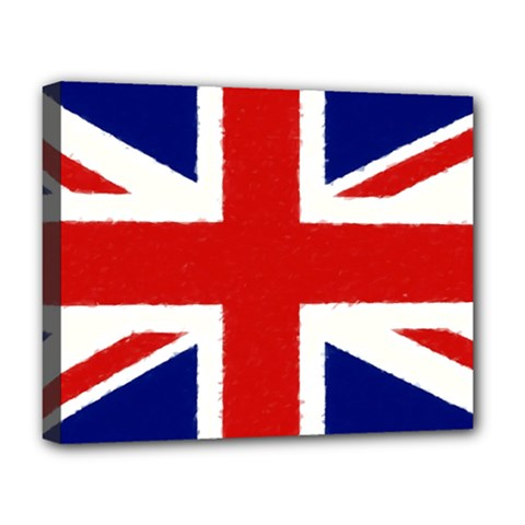 Union Jack Watercolor Drawing Art Deluxe Canvas 20  X 16