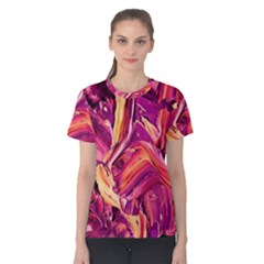 Abstract Acryl Art Women s Cotton Tee