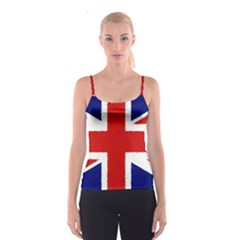 Union Jack Watercolor Drawing Art Spaghetti Strap Top