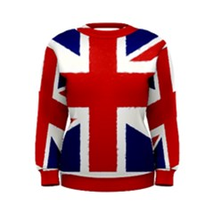 Union Jack Watercolor Drawing Art Women s Sweatshirt