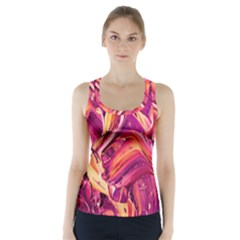 Abstract Acryl Art Racer Back Sports Top