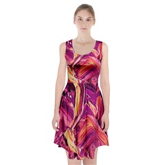 Abstract Acryl Art Racerback Midi Dress