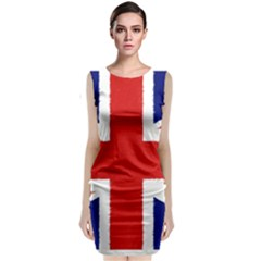 Union Jack Watercolor Drawing Art Classic Sleeveless Midi Dress