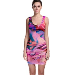 Abstract Acryl Art Bodycon Dress