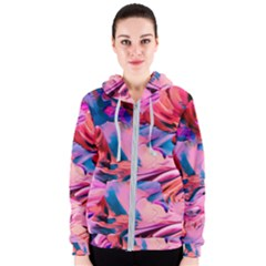 Abstract Acryl Art Women s Zipper Hoodie