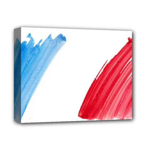 France Flag, Banner Watercolor Painting Art Deluxe Canvas 14  X 11