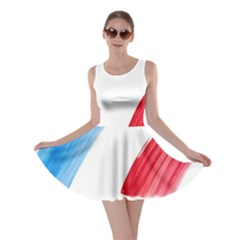 France Flag, Banner Watercolor Painting Art Skater Dress