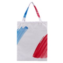 France Flag, Banner Watercolor Painting Art Classic Tote Bag