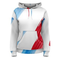France Flag, Banner Watercolor Painting Art Women s Pullover Hoodie