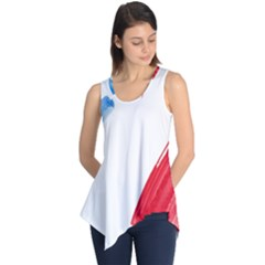France Flag, Banner Watercolor Painting Art Sleeveless Tunic