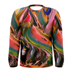 Abstract Acryl Art Men s Long Sleeve Tee