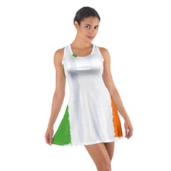 Flag Ireland, Banner Watercolor Painting Art Cotton Racerback Dress