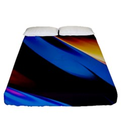 Abstract Acryl Art Fitted Sheet (queen Size)
