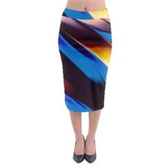Abstract Acryl Art Midi Pencil Skirt