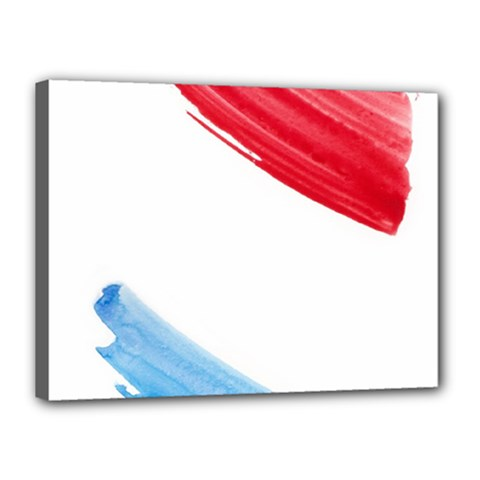 Tricolor Banner Watercolor Painting Art Canvas 16  X 12