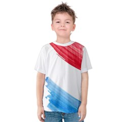 Tricolor Banner Watercolor Painting Art Kids  Cotton Tee
