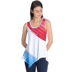 Tricolor Banner Watercolor Painting Art Sleeveless Tunic