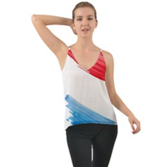 Tricolor Banner Watercolor Painting Art Cami