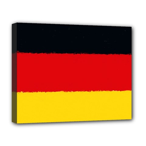 German Flag, Banner Deutschland, Watercolor Painting Art Deluxe Canvas 20  X 16