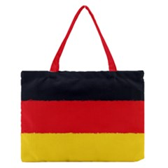 German Flag, Banner Deutschland, Watercolor Painting Art Zipper Medium Tote Bag