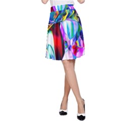Abstract Acryl Art A Line Skirt