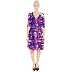 Abstract Acryl Art Wrap Up Cocktail Dress