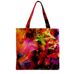 Abstract Acryl Art Zipper Grocery Tote Bag