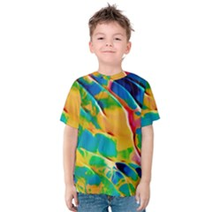 Abstract Acryl Art Kids  Cotton Tee