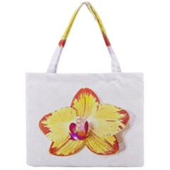 Phalaenopsis Yellow Flower, Floral Oil Painting Art Mini Tote Bag