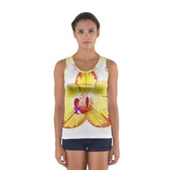 Phalaenopsis Yellow Flower, Floral Oil Painting Art Sport Tank Top