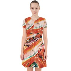 Abstract Acryl Art Adorable In Chiffon Dress