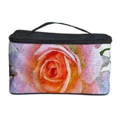 Pink Rose Flower, Floral Oil Painting Art Cosmetic Storage Case