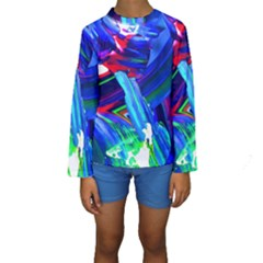 Abstract Acryl Art Kids  Long Sleeve Swimwear