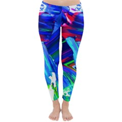 Abstract Acryl Art Classic Winter Leggings