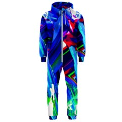 Abstract Acryl Art Hooded Jumpsuit (men)