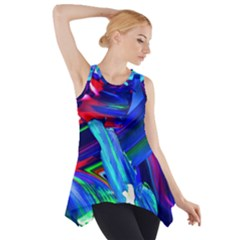 Abstract Acryl Art Side Drop Tank Tunic