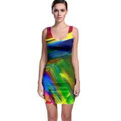 Abstract Acryl Art Bodycon Dress